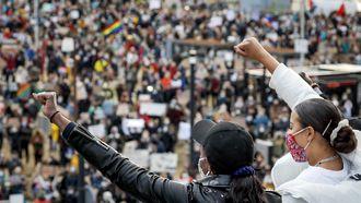 Demonstraties in utrecht nijmegen enschede voor black lives matters verlopen nat, maar rustig