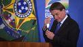 Een foto van de Braziliaanse president Bolsonaro