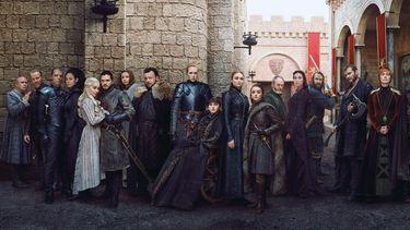Een foto van de cast van Game of Thrones