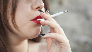 Een foto van een van de rokers die niet zijn gestopt