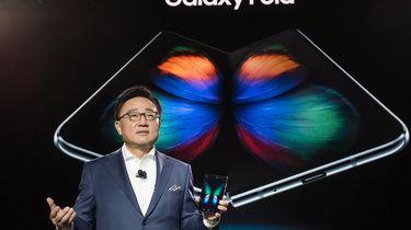 Peperdure vouwbare Samsung na twee dagen stuk