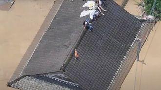 Beelden van de overstromingen in Japan.