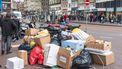 Op deze foto zie je stapel afval in Amsterdam
