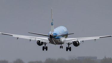 Een foto van een KLM vliegtuig