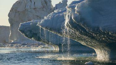 groenland, ijskap, gesmolten, klimaatverandering