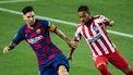 Een foto van Messi in actie tegen Atlético Madrid