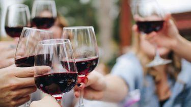 Rode wijn.