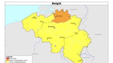 foto van landkaart België