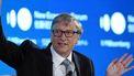 Een foto van een zwaaiende Bill Gates