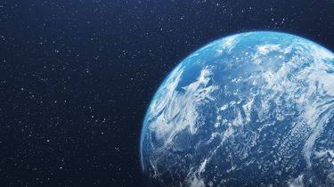 Mooie foto van de aarde in de ruimte