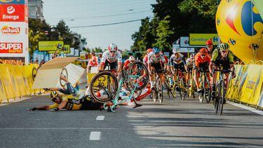 Crash tijdens de tour van Polen