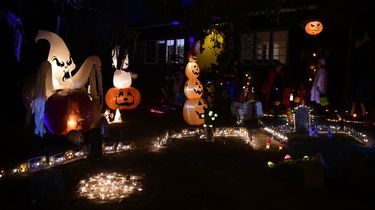 Trick or Treaters tijdens Halloween in Amerika. / ANP