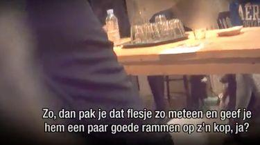 Rambam filmt hoe pup wordt geslagen bij training