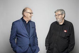 Een foto van Philip Freriks en Maarten van Rossem in De slimste mens