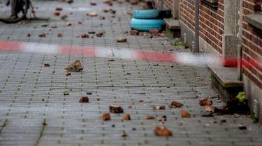 Eline werd opgetild door de storm: 'een gek gevoel'. / ANP
