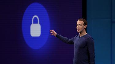 Mark Zuckerberg voor uitleg in EU-parlement.  / AFP