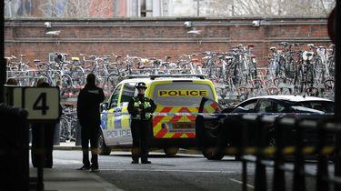 Politie bij Waterloo Station.