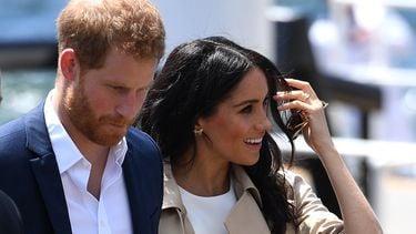 Een foto van Prins Harry en Meghan