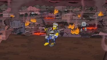 Op deze foto zie je de voorspelling van The Simpsons voor het jaar 2021