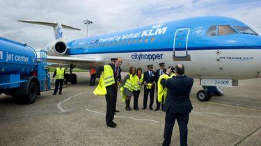 KLM vliegt voor de laatste keer met Fokkertoestellen. / ANP