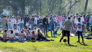 parken drukte Vondelpark