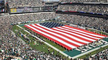 De vlag die Amerika tot op het bot verdeeld
