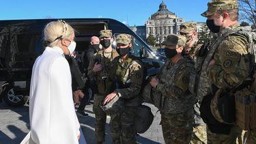 Inauguratie Joe Biden Lady Gaga met beveiliging