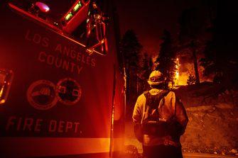 Foto van de bosbranden in de VS