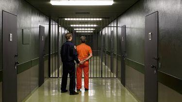 Op deze foto zie je een gevangen in VS