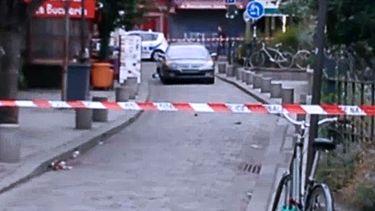 Ook auto met gasflessen in Marseille, bij synachoge