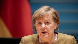 Een foto van Angela Merkel.