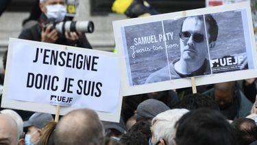 foto van demonstratie Parijs
