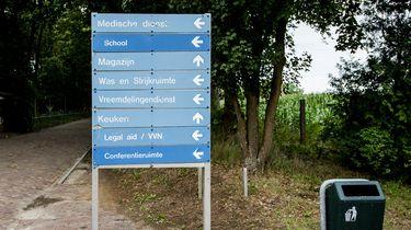Op deze foto zie je het asielzoekerscentrum (azc) in Gilze.