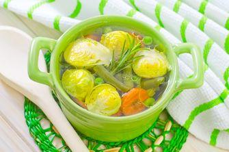 Een foto van vegetarische soep