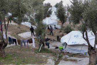 Het kamp op Lesbos in 2017