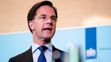 Een foto van premier Rutte.