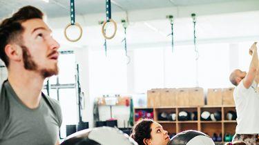 Een foto in een sportschool