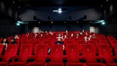 Een foto van hoe de bioscopen eruitzagen bij een beperkt aantal bezoekers