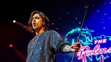 Een foto van Waylon tijdens een optreden in Rotterdam Ahoy