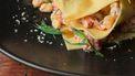 open lasagne met mais, rivierkreeft en dragon