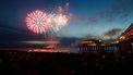 Foto van een vuurwerkshow in Scheveningen