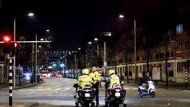 Een foto van Den Haag een dag na de rellen