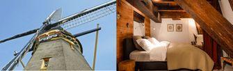 Windmill close to Amsterdam, 3 bedrooms, bathroom, kitchen, living room, view. Bron: Vrbo via Holidu.