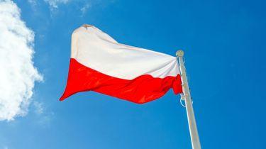 Een foto van de poolse vlag