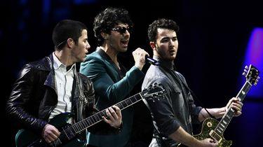 (L-R) Joe Jonas, Nick Jonas en Kevin Jonas.