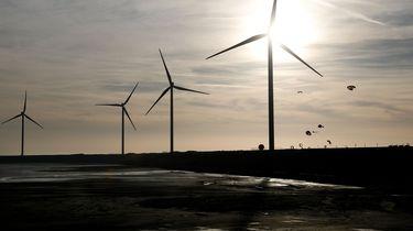 Windmolens bij windpark Slufterdam.