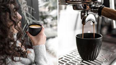 Een koffiekop van koffiedik