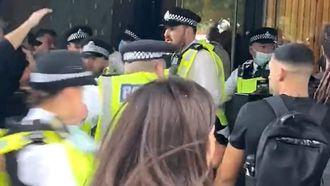 BBC, protest, antivaxxers, corona, vaccinatie