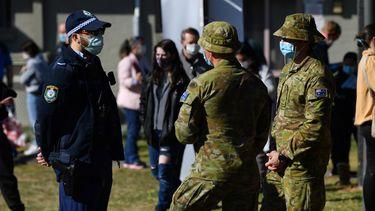 militairen leger Australië Sydney lockdown
