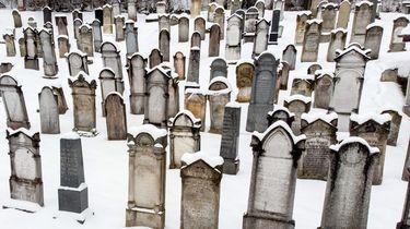 Een Joodse begraafplaats in Boedapest, Hongarije.